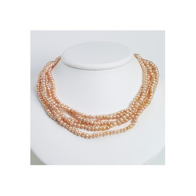 Jewelryweb Natural Color Cultured Pearl Necklace - 100 Inch