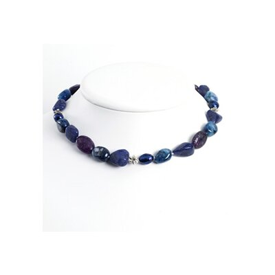 Jewelryweb Charoite Sodalite Lapis Blue Cult. Pearl Necklace 18 Inch- Lobster Claw