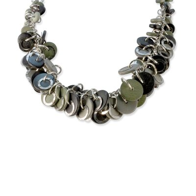 Jewelryweb Black Grey 20inch With Ext Necklace