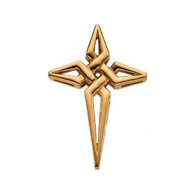 14k Yellow Gold Cross Pendant29x21mm