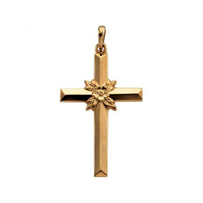 14k Yellow Gold Cross Pendant29.5x19.5mm