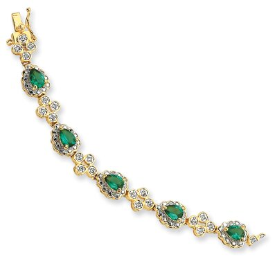 Jewelryweb Sterling Silver Colorful Bracelet with Crystal with Swarovski Elements