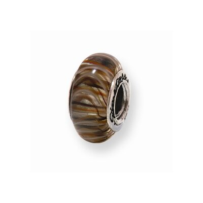 Sterling Silver Reflections Brown Murano Glass Bead Charm