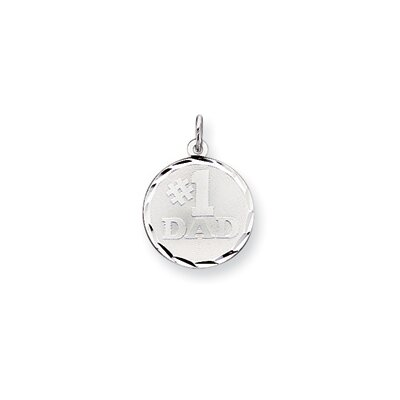 Sterling Silver Number 1 Dad Disc Charm