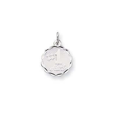 Sterling Silver Number 1 Aunt Disc Charm