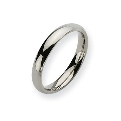 Titanium Polished Comfort Fit 4mm Wedding Band Ring