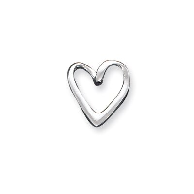 Jewelryweb Sterling Silver Heart Slide
