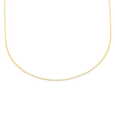 18k Yellow Gold 1.1mm Cable Chain Necklace