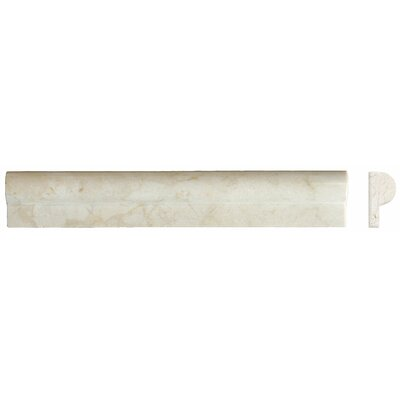 "MS International 1"" x 2"" x 12"" Honed Rail Molding in Crema Marfil"