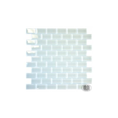 "MS International 12"" x 12"" Crystallized Glass Mosaic in Arctic Ice"