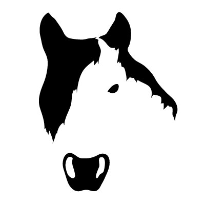 Avalisa Animal Face - Horse Stretched Wall Art