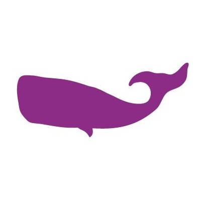 Avalisa Silhouette - Whale Stretched Wall Art