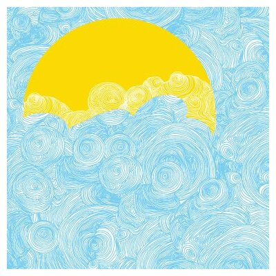 Avalisa Imagination - Sun and Sky Stretched Wall Art