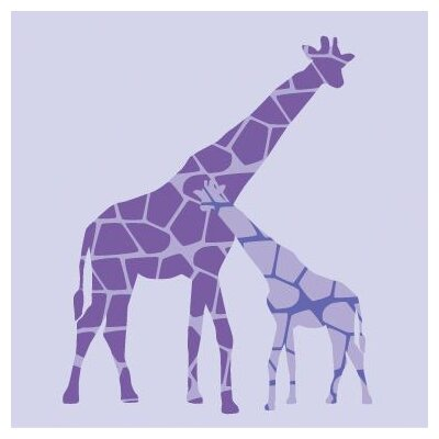 Avalisa Animal - Reticulated Giraffe Stretched Wall Art