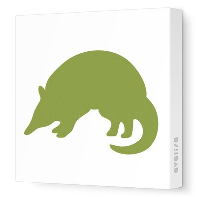 Avalisa Silhouette - Armadillo Stretched Wall Art