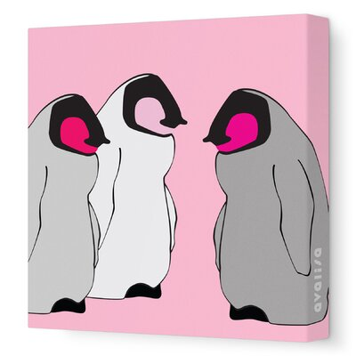 Avalisa Animal - Baby Penguins Stretched Wall Art