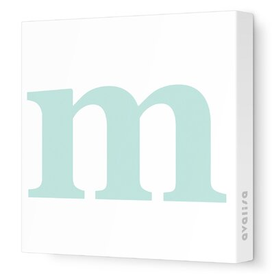 Avalisa Letter - Lower Case 'm'  Stretched Wall Art