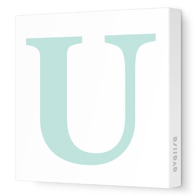 Avalisa Letter - Upper Case 'U' Stretched Wall Art