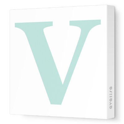 Avalisa Letter - Upper Case 'V' Stretched Wall Art