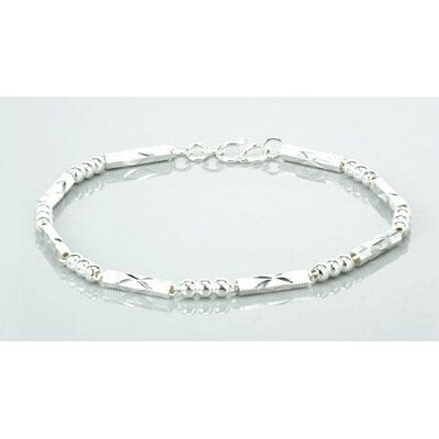 Oravo Laser Cut Tube and Ball Link Bracelet Sterling Silver