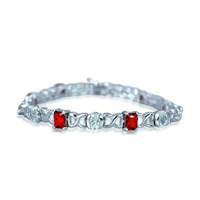 Oravo Radiant Brilliance Gemstone Bracelet in Sterling Silver