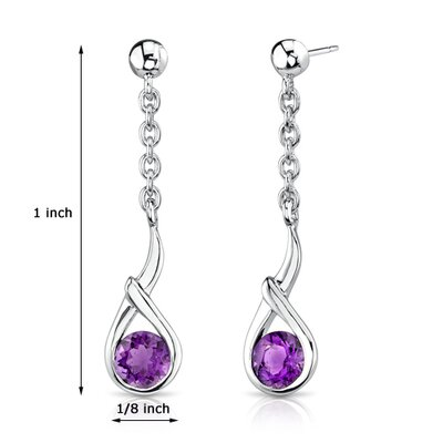 Oravo 1.00 Ct.T.W. Genuine Round Earrings in Sterling Silver
