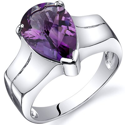 Oravo Brilliant 3.75 carats Solitaire Ring in Sterling Silver