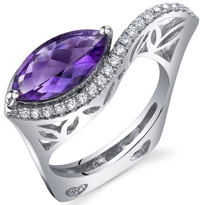 Oravo Filigree Style 2.00 Carats Marquise Cut Ring in Sterling Silver