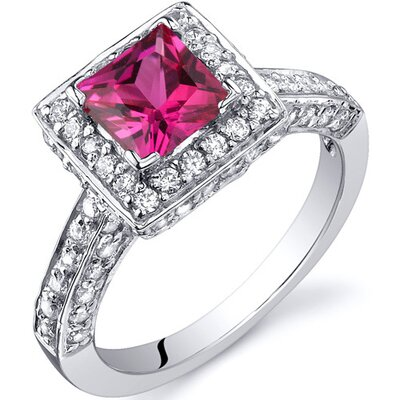 Princess Cut 1.00 Carats Engagement Ring in Sterling Silver