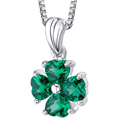 Irresistible Desire: Heart Shape Checkerboard Cut Emerald Pendant with 18