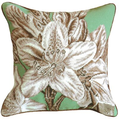 Lily 100% Wool Needlepoint Pillow