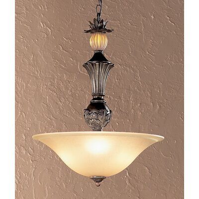 Classic Lighting Topaz 3 Light Inverted Pendant