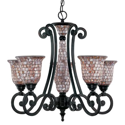 Classic Lighting Pearl River 5 Light Chandelier