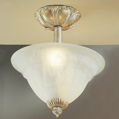 Classic Lighting Yorkshire 2 Light Semi-Flush Mount