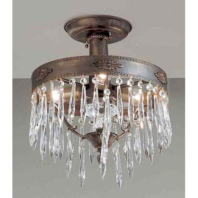 Classic Lighting Duchess 3 Light Semi-Flush Mount
