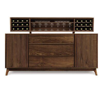 Copeland Furniture Catalina 3 Drawers in Center Buffet with Hutch