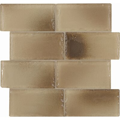 "Casa Italia Fashion 6"" x 3"" Glass Tile in Mix Fashion Sand"