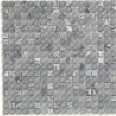 "Casa Italia Pure & Natural 11.75"" x 11.75"" Natural Stone and Glass Mosaic in Pure Blue Stone and Natural Frosted"