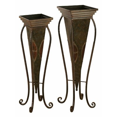 Aspire Tall Square Floor Planters (Set of 2)