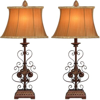 Aspire Willa Metal Table Lamp (Set of 2)