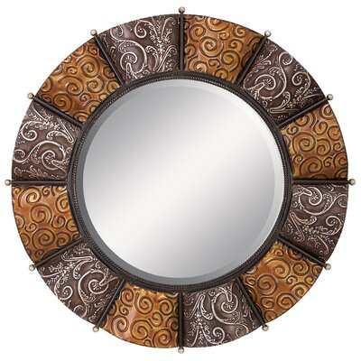 "Aspire 33"" Round Metal Wall Mirror"