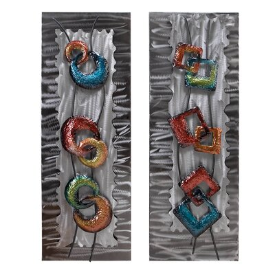 Abstract Metal Wall Plaque (Set of 2)