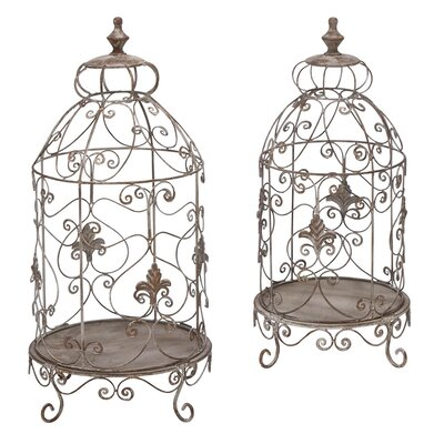 Aspire Decorative Metal Terrarium (Set of 2)