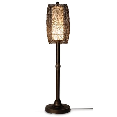 "Patio Living Concepts Bristol 58"" Floor Lamp Walnut Shade in Bronze"