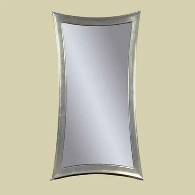 Hour-Glass Wall Mirror - Silver Leaf