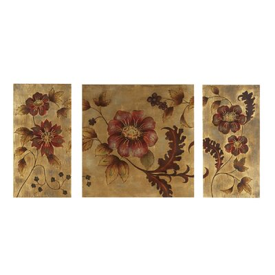 Bassett Mirror Golden Vine Wall Art (Set of 3)
