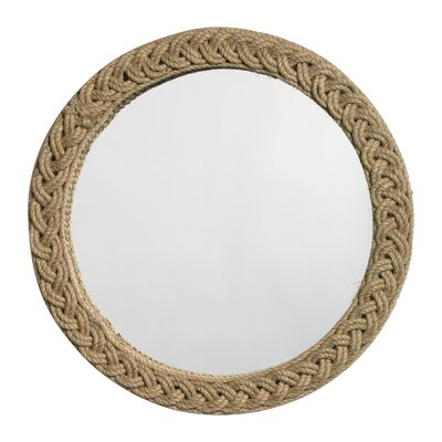 Jamie Young Company Round Braided Jute Mirror