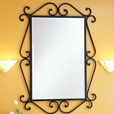 Granada Rectangular Scroll Beveled Mirror
