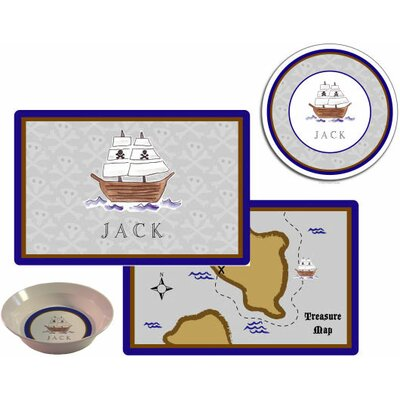 Kelly Hughes Designs Kids Tabletop Plate and Placemat Set