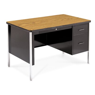 Virco Single Pedestal Teacher's Computer Desk